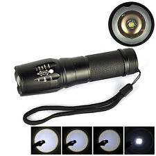 5000Lm XM-L T6 LED Zoomable Flashlight Torch 26650/18650/AAA Adjustable Lamp PE