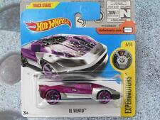 Hot Wheels 2017 #173/365 EL VENT violet / argent Experimotors Nouveau Fonte