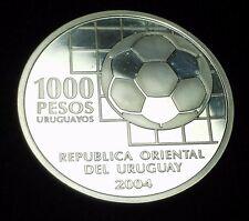 Uruguay 2004- $ 1000 Pesos -FIFA Centennial-100 Years of  World Football- Silver