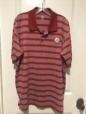 Alabama Crimson Tide Knights Apparel Red White Golf Polo Mens Shirt XL
