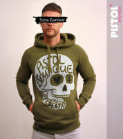 Pistol Boutique Khaki Pullover DOODLE SKULL LIFE & DEATH Fashion Raglan Hoodie