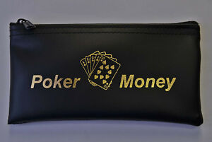 Poker Money Bag Wallet-Purse Gambling Stash Purse Casino Player Pouch Poker Chip