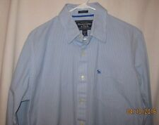 Abercrombie & Fitch Size XL Long Sleeve Button Up Casual Shirt Blue Striped