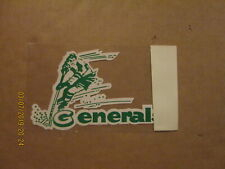 SHL Greensboro Generals Vintage Defunct 1970's Team Logo Hockey Window Decal