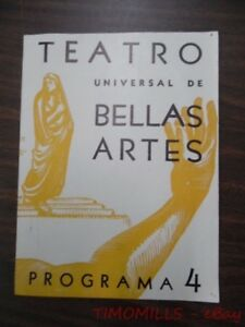 1948 Teatro Universal De Bellas Artes Shakespeare Theater Program Mexico City VG