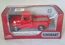 1955 Chevy Stepside Red Diecast Pickup Truck Kinsmart New