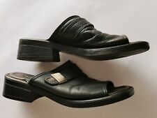 Vagabond womens leather black mule size EUR 38 UK 5