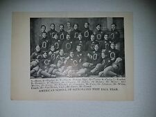 American School of Osteopathy 1901 Football Team Picture RARE!