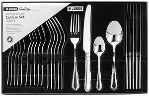 Judge 24 Piece Dubarry Cutlery Set Stainless Steel Boxed 25 Year Guarantee