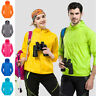 New Men Women Jacket Waterproof Windproof Outdoor Cycling Sports Rain Coat S-3XL