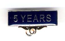 5 YEARS Pin. Service Award Badge With Blue Background.