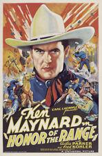 Honor of the range Ken Maynard western movie poster
