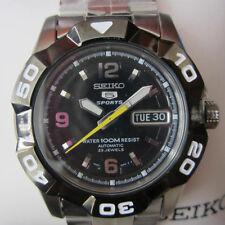 SEIKO 5 MEN'S WATCH AUTOMATIC IP BLACK ROU ALL S/S ORIGINAL JAPAN SNZE59K1 NEW