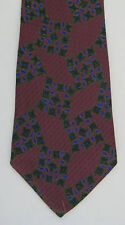 Metropolitan Museum Art Mens Neck Tie Necktie Silk Purple Green Blue Geometric