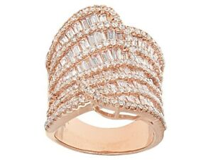Bella Luce White Cubic Zirconia 18k Rose Gold Over Sterling Silver Ring 6.97ctw