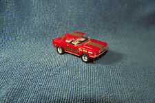"""Red Mustang Coupe """"Vegas Outlaw""""HO Slot Car w/Ultra G Chassis & RRR Wheels/Tires"""