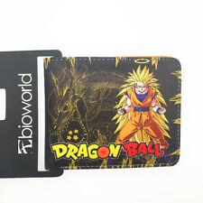 Dragon Ball Z Anime Goku Super Saiyan Wallet Coins Cards Notes