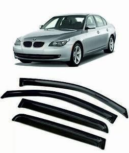 For BMW 5ER (E60) 4D 2003-2010 Window Visors Sun Rain Guard Vent Deflectors