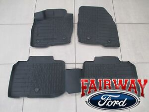16 thru 18 Lincoln MKX OEM Ford Tray Style Molded Black Floor Mat Set 4-pc NEW