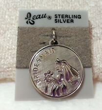 Charm ~ # 3532 ~ Nos Vintage Beau Sterling Silver Bridesmaid Round Disc