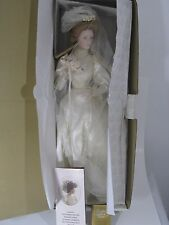 FRANKLIN MINT HEIRLOOM DOLL THE GIBSON GIRL BRIDE 22 '' DOLL W/ BOX + STAND