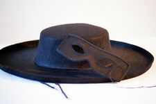 New Zorro/Bandit Themed Costume, Black Hat & Eye Mask Fancy Dress Accessory