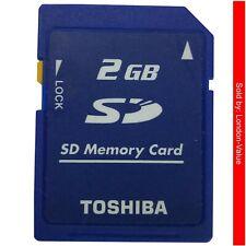 2GB SD Card Secure Digital Memory Card Toshiba Genuine Reliable Brand