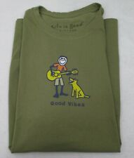 Men's Life is Good T Shirt Guitar Large
