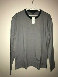 New with tags Brooks Brothers cotton blend stripped tee shirt top men L $75