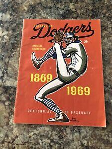 1969 Los Angeles  Dodgers vs Philadelphia Phillies Official Program