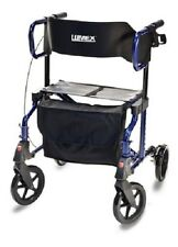 Lumex LX1000 Hybrid LX Transport Chair Rollator, Majestic Blue  - New