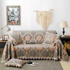 Vintage Chenille Jacquard Lace Sofa Throw Cover All-inclusive Couch Slipcovers