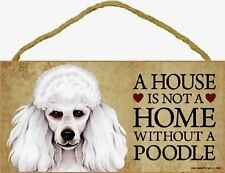 Poodle Wood Dog Sign Wall Plaque 5 x 10 for Dog Lovers Gift House Leash Picture