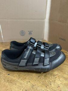 Shimano SH-RA80 men size 15 Road Cycling Shoes Black/Metallic 3 Adjust Straps