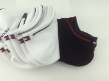 Women's TOMMY HILFIGER White Black 73% COTTON Summer Socks - 6 Pack - $36 MSRP