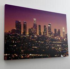 Los Angeles Skyline Nacht Nightlife Leinwand Bild Wandbild Kunstdruck L0885