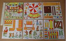 1940s Fairyglen Fair Card Cut-Out Model Book. Funfair Booths, Elves & Fairies