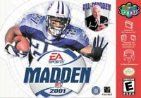 Madden NFL 2001 an American Football Video Game for Nintendo 64