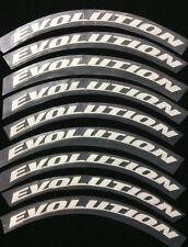 "Permanent Tire Letter Stickers 1.25"" Evolution 8Pcs Fits 13"" - 24""Tires"