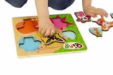 NEW Bing & Friends Wooden Pick and Place Puzzle