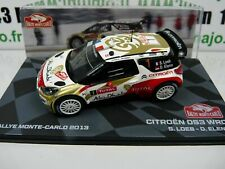 RMIT2H 1/43 IXO Rallye Monte Carlo : CITROËN DS3 WRC winner 2013 S LOEB