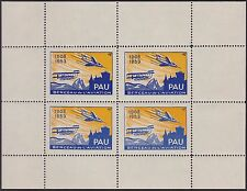 FRANCE VIGNETTE  Bloc de 4** Pau berceau de l'aviation 1908-1953, Cinderella MNH