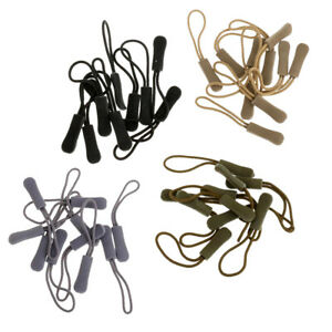 40Pcs Zipper Pulls Cord Rope Ends Lock Zip Clip Buckle For Clothing/Bags