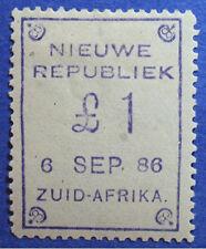 1886 SEPT 6 NEW REPUBLIC SOUTH AFRICA 1P SCOTT# 17 S.G.# 24 UNUSED  CS06626
