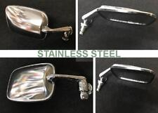 VW BEETLE,TYPE3,KARMANN GHIA,STAINLESS STEEL EXT MIRRORS PAIR BUG 1968-1979