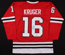 Marcus Kruger Chicago Blackhawks Signed Hockey Jersey   Beckett COA Authentic!