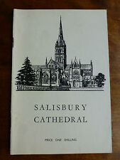 SALISBURY CATHEDRAL - Guide Book 1953 A Short Account of History, Architecture