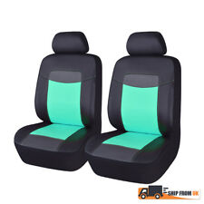 Green PU Leather Front Car Seat Covers Waterproof Auto Seats Cushions From UK