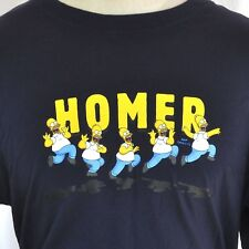 Homer Simpson Leaping The Simpsons Sleep L T-shirt Large Fit 2007 Licensed