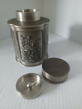 More details for royal selangor hand finished pewter tea/ coffee caddy